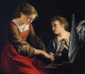 Orazio_Gentileschi__Saint_Cecilia_with_an_Angel